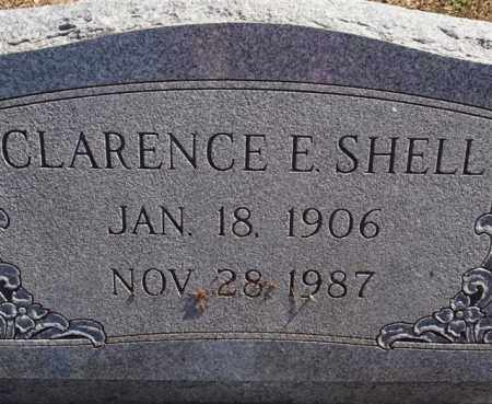 SHELL, CLARENCE E (CLOSE UP) - Saline County, Arkansas | CLARENCE E (CLOSE UP) SHELL - Arkansas Gravestone Photos