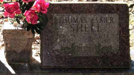 SHELL, THOMAS ELMER (CLOSEUP) - Saline County, Arkansas | THOMAS ELMER (CLOSEUP) SHELL - Arkansas Gravestone Photos