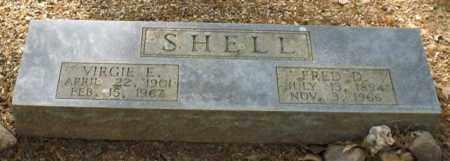 SHELL, FRED D. - Saline County, Arkansas | FRED D. SHELL - Arkansas Gravestone Photos