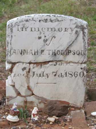 THOMPSON, HANNAH E - Saline County, Arkansas | HANNAH E THOMPSON - Arkansas Gravestone Photos