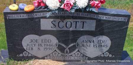 SCOTT, JOE EDD - Scott County, Arkansas   JOE EDD SCOTT - Arkansas Gravestone Photos