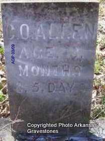 ALLEN, C O - Scott County, Arkansas | C O ALLEN - Arkansas Gravestone Photos