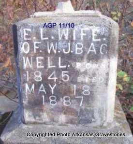 BAGWELL, E L - Scott County, Arkansas   E L BAGWELL - Arkansas Gravestone Photos