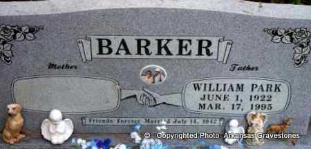 BARKER, WILLIAM PARK - Scott County, Arkansas | WILLIAM PARK BARKER - Arkansas Gravestone Photos