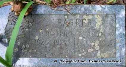 BARKER, BEATRICE - Scott County, Arkansas | BEATRICE BARKER - Arkansas Gravestone Photos