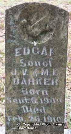 BARKER, EDGAR - Scott County, Arkansas | EDGAR BARKER - Arkansas Gravestone Photos