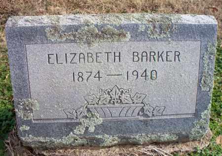 BARKER, ELIZABETH - Scott County, Arkansas | ELIZABETH BARKER - Arkansas Gravestone Photos