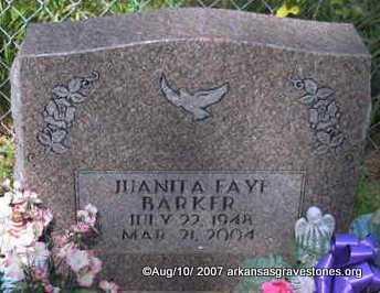 "BARKER, JUANITA FAYE "" FAYE"" - Scott County, Arkansas   JUANITA FAYE "" FAYE"" BARKER - Arkansas Gravestone Photos"