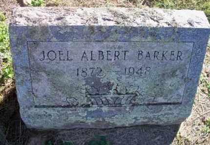 BARKER, JOEL ALBERT - Scott County, Arkansas   JOEL ALBERT BARKER - Arkansas Gravestone Photos
