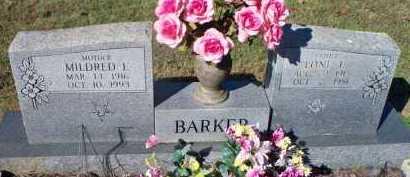 BARKER, MILDRED E - Scott County, Arkansas | MILDRED E BARKER - Arkansas Gravestone Photos