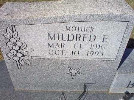 BARKER, MILDRED E  (CLOSE  U P) - Scott County, Arkansas | MILDRED E  (CLOSE  U P) BARKER - Arkansas Gravestone Photos