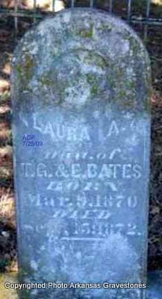 BATES, LAURA A - Scott County, Arkansas | LAURA A BATES - Arkansas Gravestone Photos