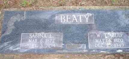 JONES BEATY, SABINA LUEGENIA - Scott County, Arkansas | SABINA LUEGENIA JONES BEATY - Arkansas Gravestone Photos
