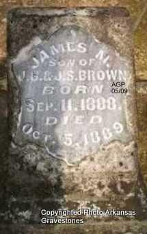 BROWN, JAMES M - Scott County, Arkansas | JAMES M BROWN - Arkansas Gravestone Photos