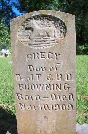 BROWNING, BRECY - Scott County, Arkansas | BRECY BROWNING - Arkansas Gravestone Photos