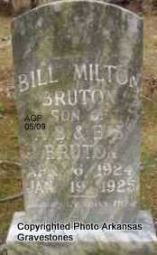 BRUTON, BILL MILTON - Scott County, Arkansas | BILL MILTON BRUTON - Arkansas Gravestone Photos