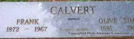 SIMS CALVERT, OLIVE - Scott County, Arkansas | OLIVE SIMS CALVERT - Arkansas Gravestone Photos