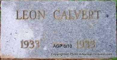 CALVERT, LEON - Scott County, Arkansas | LEON CALVERT - Arkansas Gravestone Photos