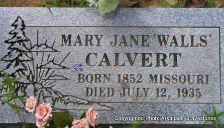 CALVERT, MARY JANE - Scott County, Arkansas | MARY JANE CALVERT - Arkansas Gravestone Photos