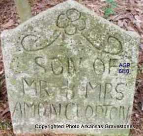 CLOPTON, SON - Scott County, Arkansas | SON CLOPTON - Arkansas Gravestone Photos