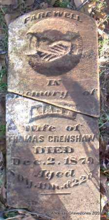 CRENSHAW, MARY JANE - Scott County, Arkansas | MARY JANE CRENSHAW - Arkansas Gravestone Photos