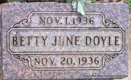 DOYLE, BETTY JUNE - Scott County, Arkansas   BETTY JUNE DOYLE - Arkansas Gravestone Photos