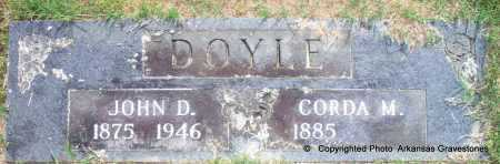 DOYLE, JOHN D - Scott County, Arkansas | JOHN D DOYLE - Arkansas Gravestone Photos