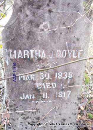 DOYLE, MARTHA J - Scott County, Arkansas   MARTHA J DOYLE - Arkansas Gravestone Photos