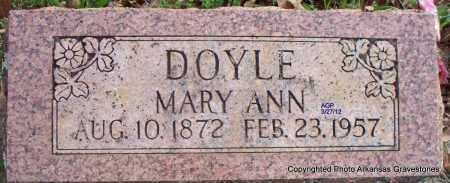 DOYLE, MARY ANN - Scott County, Arkansas | MARY ANN DOYLE - Arkansas Gravestone Photos