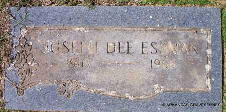 ESSMAN, JOSEPH DEE (2ND STONE) - Scott County, Arkansas | JOSEPH DEE (2ND STONE) ESSMAN - Arkansas Gravestone Photos
