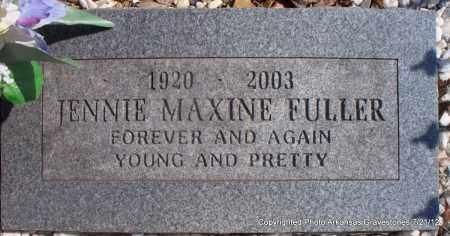 FULLER, JENNIE MAXINE - Scott County, Arkansas | JENNIE MAXINE FULLER - Arkansas Gravestone Photos