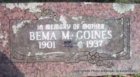 GOINES, BEMA M - Scott County, Arkansas   BEMA M GOINES - Arkansas Gravestone Photos