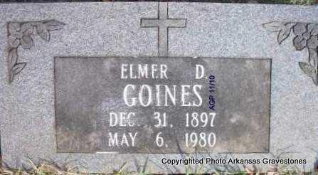 GOINES, ELMER D - Scott County, Arkansas   ELMER D GOINES - Arkansas Gravestone Photos
