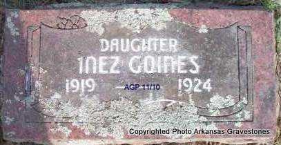 GOINES, INEZ - Scott County, Arkansas | INEZ GOINES - Arkansas Gravestone Photos