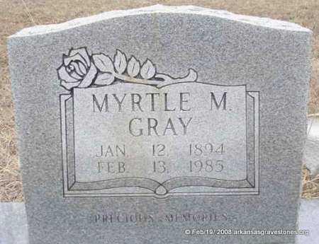 GRAY, MYRTLE M - Scott County, Arkansas | MYRTLE M GRAY - Arkansas Gravestone Photos