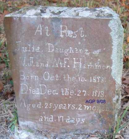 HAMMON, JULIA - Scott County, Arkansas | JULIA HAMMON - Arkansas Gravestone Photos