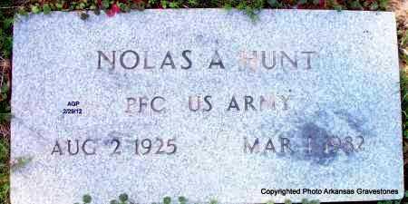 HUNT (VETERAN), NOLAS A - Scott County, Arkansas   NOLAS A HUNT (VETERAN) - Arkansas Gravestone Photos