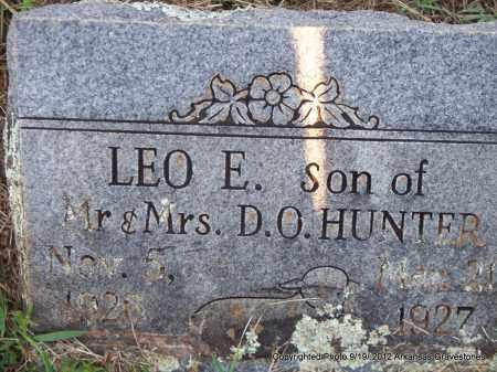 HUNTER, LEO E - Scott County, Arkansas | LEO E HUNTER - Arkansas Gravestone Photos
