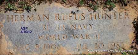 HUNTER (VETERAN WWII), HERMAN RUFUS - Scott County, Arkansas | HERMAN RUFUS HUNTER (VETERAN WWII) - Arkansas Gravestone Photos