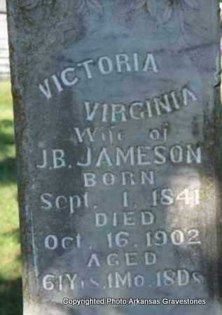 JAMESON, VICTORIA VIRGINIA - Scott County, Arkansas | VICTORIA VIRGINIA JAMESON - Arkansas Gravestone Photos
