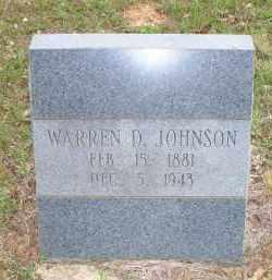 JOHNSON, WARREN D - Scott County, Arkansas | WARREN D JOHNSON - Arkansas Gravestone Photos