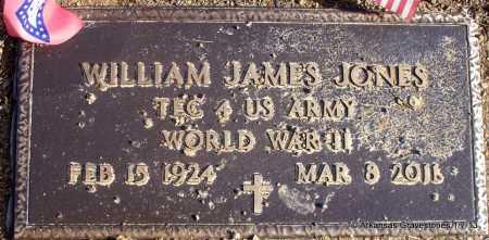 JONES (VETERAN WWII), WILLIAM JAMES - Scott County, Arkansas | WILLIAM JAMES JONES (VETERAN WWII) - Arkansas Gravestone Photos