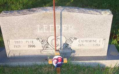 LEEPER, CATHERINE I - Scott County, Arkansas | CATHERINE I LEEPER - Arkansas Gravestone Photos