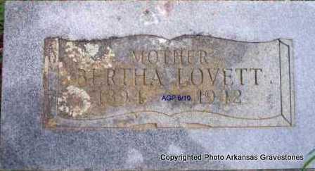 LOVETT, BERTHA - Scott County, Arkansas | BERTHA LOVETT - Arkansas Gravestone Photos
