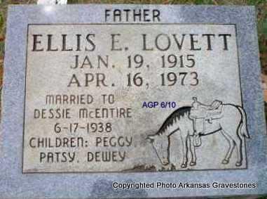 LOVETT, ELLIS E - Scott County, Arkansas   ELLIS E LOVETT - Arkansas Gravestone Photos