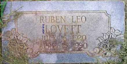 LOVETT, RUBEN LEO - Scott County, Arkansas | RUBEN LEO LOVETT - Arkansas Gravestone Photos