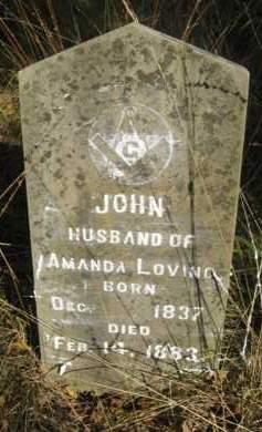 LOVING, JOHN - Scott County, Arkansas | JOHN LOVING - Arkansas Gravestone Photos