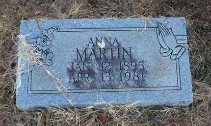 MARTIN, ANNA - Scott County, Arkansas   ANNA MARTIN - Arkansas Gravestone Photos