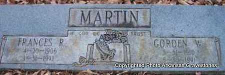 MARTIN, GORDEN W - Scott County, Arkansas   GORDEN W MARTIN - Arkansas Gravestone Photos