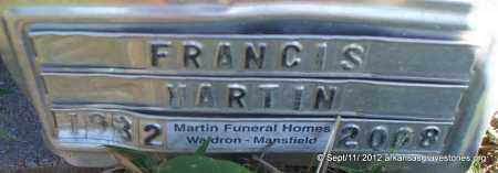 MARTIN, FRANCIS - Scott County, Arkansas   FRANCIS MARTIN - Arkansas Gravestone Photos